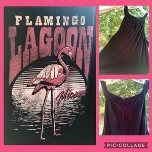 torrid Tops - Torrid Flamingo Lagoon jersey keyhole tank Sz 2X